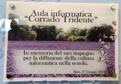 Intitolazione del Lab. di Informatica della Santomauro al prof. Corrado Tridente