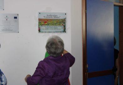 Intitolazione dell'Auditorium della El/7 alla maestra Carmela Aliano
